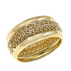 Michael Anthony Jewelry® 10K Popcorn Center Band Ring