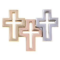 Michael Anthony Jewelry® 10K Tri-color 3-Cross Pendant