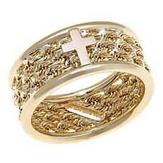 Michael Anthony Jewelry® 10K Triple Rope Cross Ring