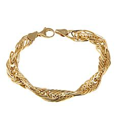 "Michael Anthony Jewelry® 10K Twisted Link 7-1/2"" Bracelet"
