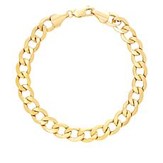 "Michael Anthony Jewelry® 10K Yellow Gold Curb Link 9"" Bracelet"
