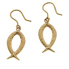 Michael Anthony Jewelry® 10K Yellow Gold Keep the Faith Drop Earrings