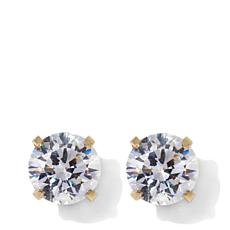 Michael Anthony Jewelry® 14K Kids Cubic Zirconia Stud Earring - April
