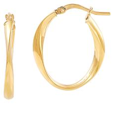 Michael Anthony Jewelry® 14K Twisted Oval Hoop Earrings