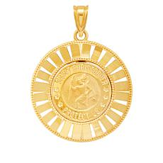 Michael Anthony Jewelry® 14K Yellow Gold Round St. Christopher Pendant