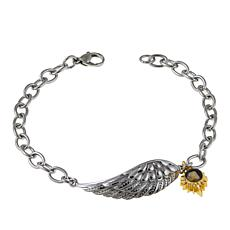 "Michael Anthony Jewelry® 2-Tone Nativity Stone Wing 7-1/2"" Bracelet"