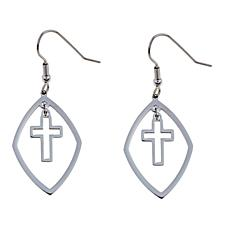 Michael Anthony Jewelry® Cross Drop Earrings
