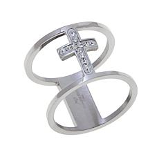 Michael Anthony Jewelry® Crystal Cross Open Space Ring