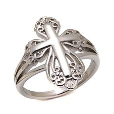 Michael Anthony Jewelry Filigree Cross Ring