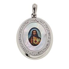 Michael Anthony Jewelry® Sacred Jesus Mother-of-Pearl Oval Pendant