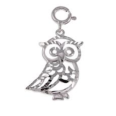 Michael Anthony Jewelry® Sterling Silver Diamond-Cut Owl Pendant