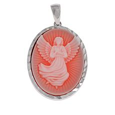 Michael Anthony Jewelry® Sterling Silver Resin Angel Oval Pendant