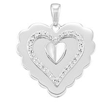 Michael Anthony® Sterling Silver CZ Heart Pendant