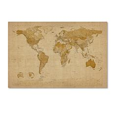 "Michael Tompsett ""Antique World Map"" Art - 18"" x 24"""
