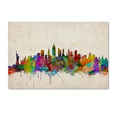 "Michael Tompsett ""New York Skyline"" Canvas Art - 14"" x"