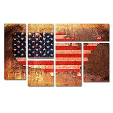 Michael Tompsett 'US Flag Map' Art Collection