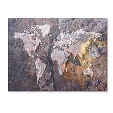 "Michael Tompsett ""World Map - Rock"" Canvas - 24"" x 32"""