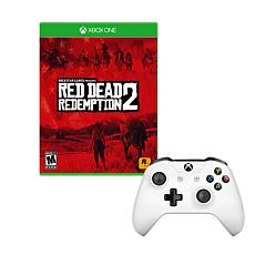 """Microsoft Xbox One S Controller with """"Red Dead Redemption 2"""" Game"""
