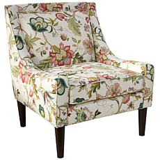 Mid Century Swoop Arm Chair in Brissac Jewel