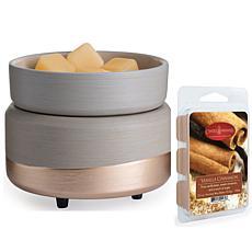 Midas 2-in-1 Warmer Set with 2.5oz Vanilla Cinnamon Wax Melt