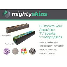 Mighty Skins Custom Skin for ZVOX AccuVoice AV155/AV203 TV Speaker