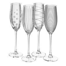 Mikasa Cheers Set of 4 Champagne Flutes - 8 oz.
