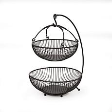 Mikasa Gourmet Basics Spindle 2-Tier Basket With Banana Hook
