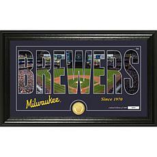 "Milwaukee Brewers ""Silhouette"" Panoramic Bronze Coin Photo Mint"