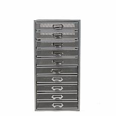 Mind Reader 10-Drawer Mesh Metal Storage Cabinet