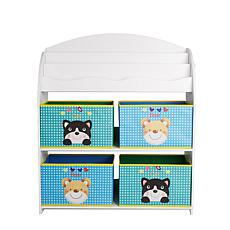 Mind Reader 3-Tier Kids' Storage Shelf and Toy Bin Organizer