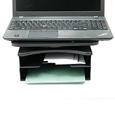 Mind Reader 360º Swivel Top 2-Tier Document Organizer