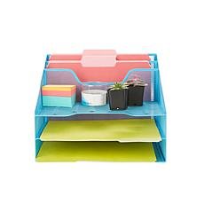 Mind Reader 5-Tier Mesh Desk Organizer Tray
