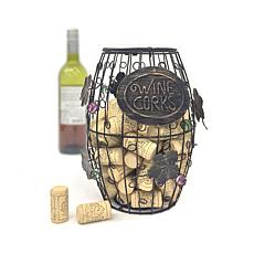 Mind Reader Corky Ornamented Metal Wine Cork Holder