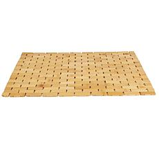 Mind Reader Eco-Friendly Non-Slip Bamboo Shower Mat