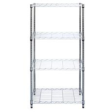 Mind Reader Heavy-Duty 4-Shelf Metal Storage Shelving Unit - Chrome