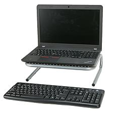 Mind Reader Metal Monitor Stand with Keyboard Storage Space
