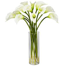 Mini Calla Lily Silk Flower Arrangement