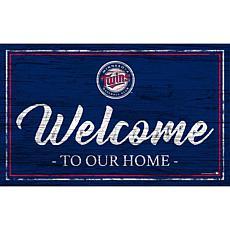 "Minnesota Twins Team Color Welcome Sign - 11x19"""