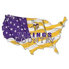 Minnesota Vikings USA Shape Flag Cutout