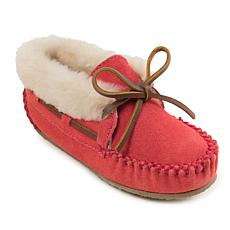 Minnetonka Charley Suede Kid's Slipper