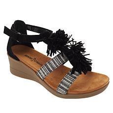 Minnetonka Desi Fringe Wedge Sandal