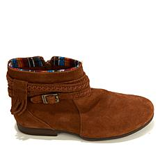 Minnetonka Dixon Suede Buckled Ankle Boot