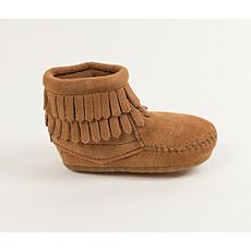 Minnetonka Infant's Double Fringe Suede Bootie