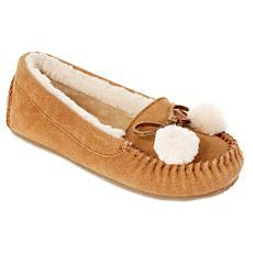 e6e92f9380d3 Minnetonka Suede Pom Pom Slipper with Gift Bag ...
