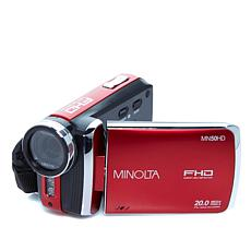 Minolta 1080p Full HD Digital Camcorder w/Carrying Case