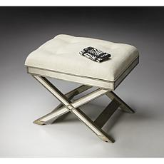Mirrored X-Base Vanity Stool