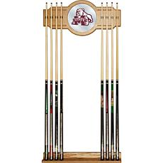Mississippi St University Wood and Mirror Wall Cue Rack