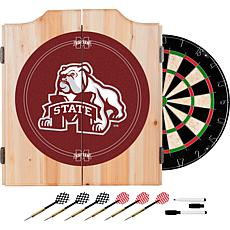 Mississippi State Univ Dart Cabinet w/ Darts and Board