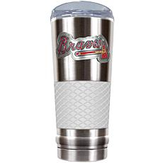 MLB 24 oz. Stainless/White Draft Tumbler - Braves