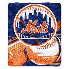 "MLB 50"" x 60"" Sherpa Throw by Northwest - Mets"